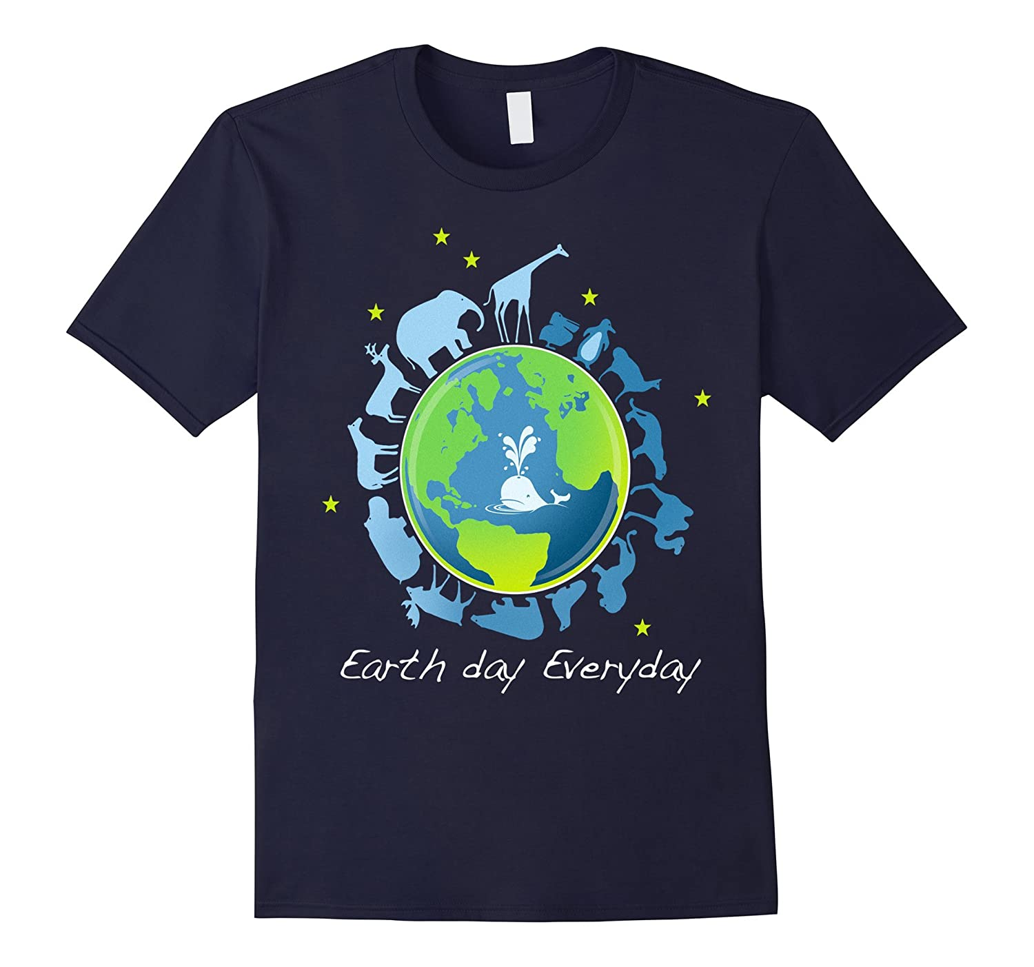 Earth day everyday tshirt animal design funny save flat gift-TD