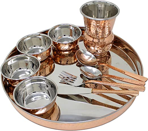SILVER STAINLESS STEEL INDIAN KITCHEN THALI //DINNER SET CHOOSE YOUR THALI SHAPE