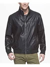 Tommy Hilfiger Men's Smooth Lamb Touch Faux Leather Unfilled Bomber