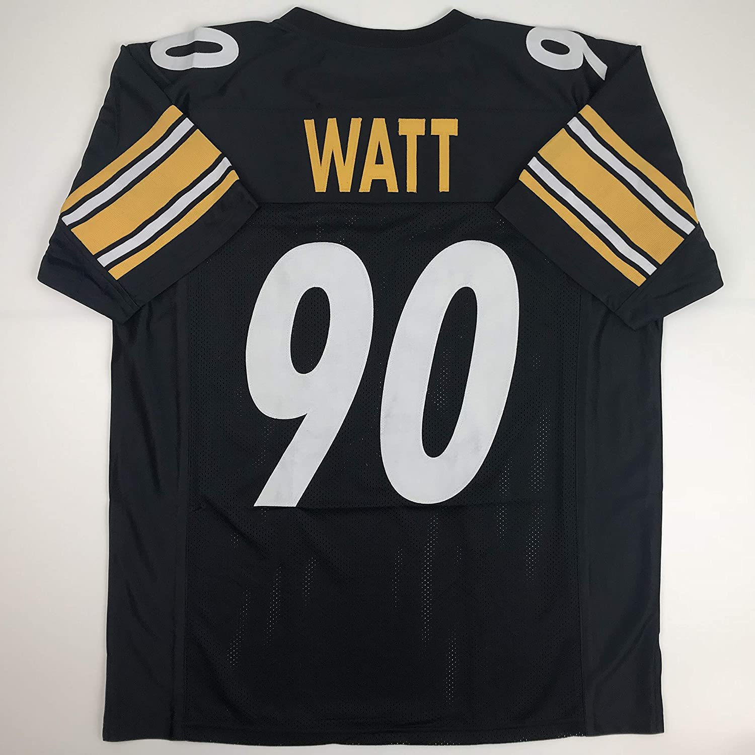 Amazon.com  Unsigned TJ T.J. Watt Pittsburgh Black Custom Stitched Football  Jersey Size Men s XL New No Brands Logos  Sports Collectibles 929aa6502