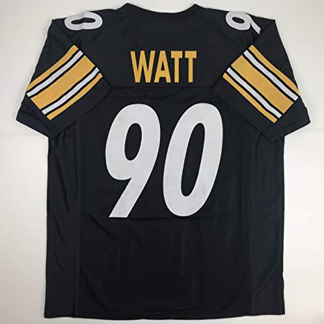 bee8fdfe9 Unsigned TJ T.J. Watt Pittsburgh Black Custom Stitched Football Jersey Size  Men s XL New No Brands