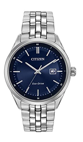 a59f904356e Citizen Watch men s quartz Watch with blue Dial analogue Display and silver  stainless steel Bracelet BM7251-53L  Amazon.co.uk  Watches