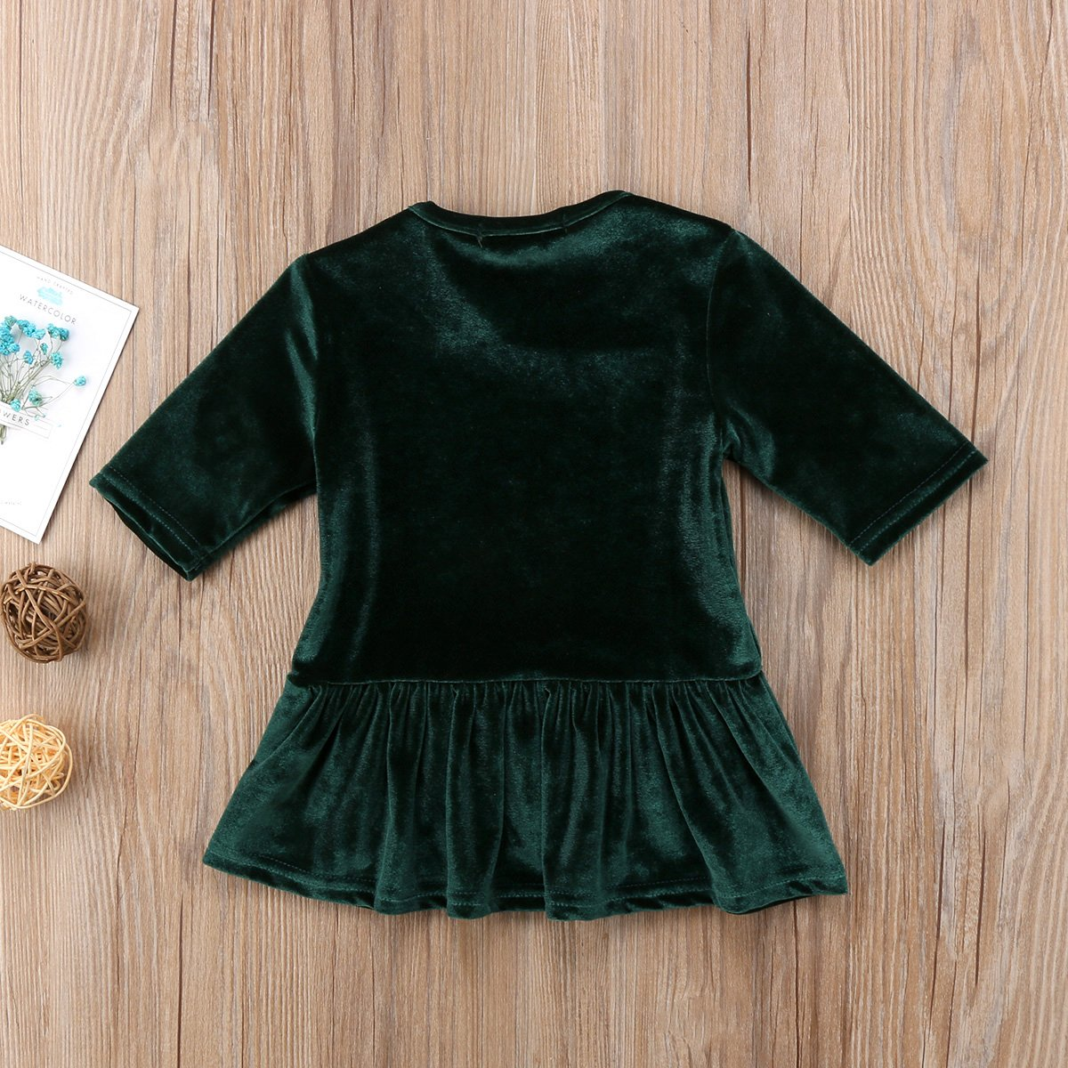 84a67171f21a Amazon.com  Canis Kids Baby Girls Vintage Style Half Sleeve Velvet ...