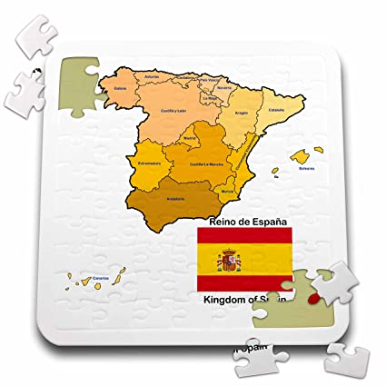 Map Of Spain Over Time.Amazon Com 3drose 777images Flags And Maps Europe Flag And Map