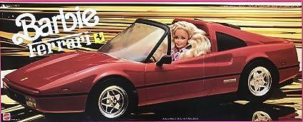 Amazon Com Barbie Ferrari Convertible Car Vehicle 1987 Mattel Hawthorne Toys Games