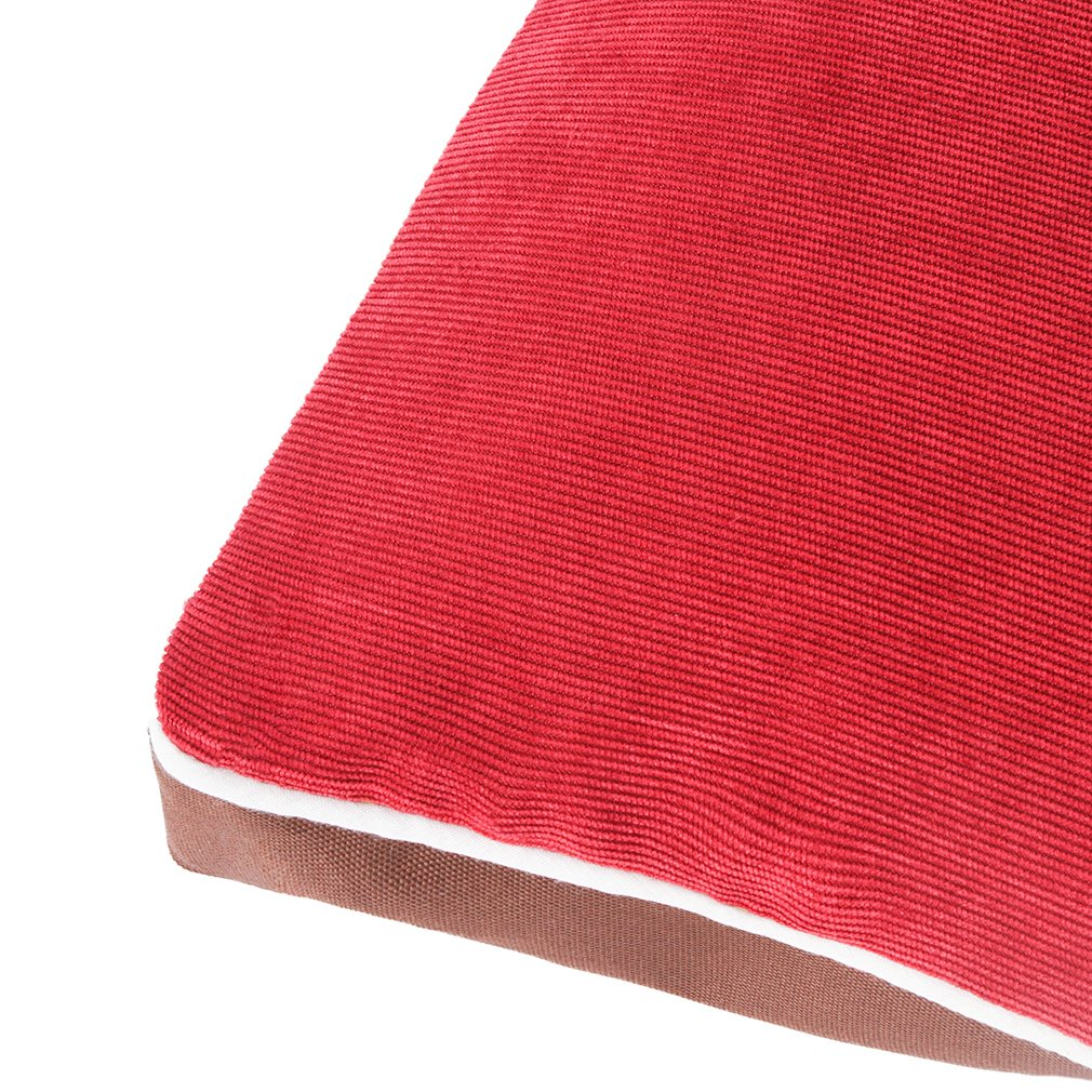 QIAOQI Dog Bed Delux Orthopedic Pet Cushion Mattress for Dogs and Cats Medium Wine Red by QIAOQI (Image #8)