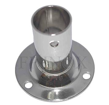 EMBASE/platino redonda 22 mm derecha 90 ° acero inoxidable ...