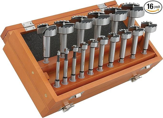 Taytools 468525 7 Piece Hex Shank Forstner Drill Bit Set with Bits