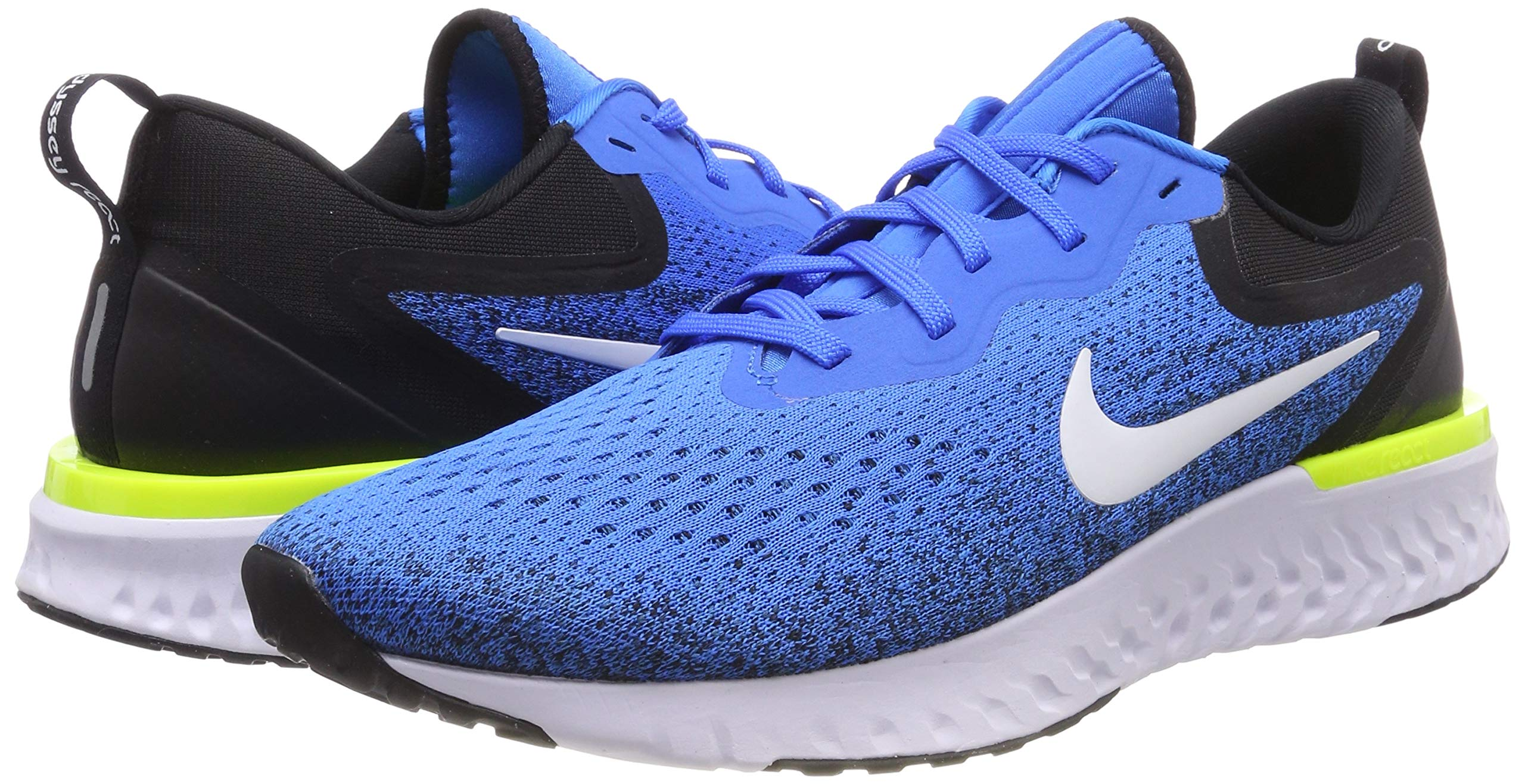 Nike Odyssey React Men's Running Shoe Green Abyss/Volt-Blue Force-White 7.5 by Nike (Image #5)