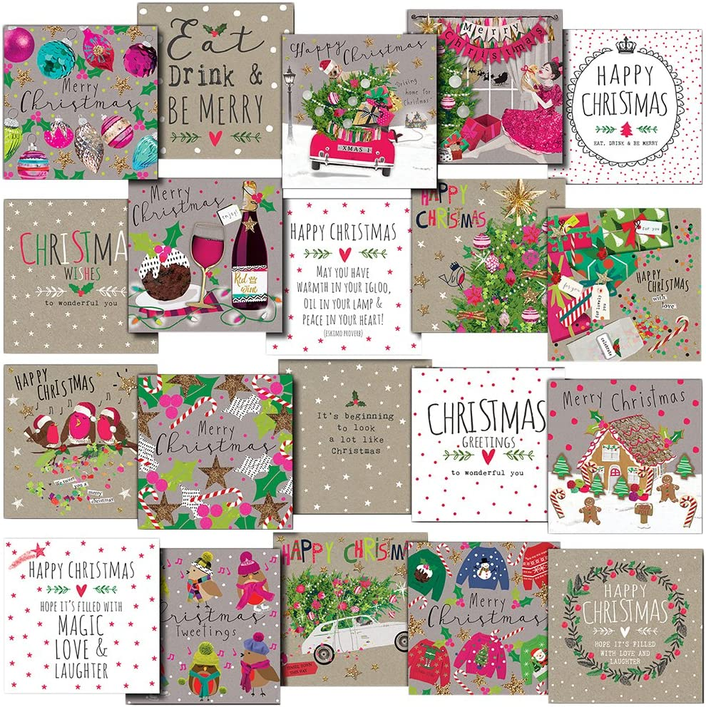 Hammond Gower Publications 20SET03 Christmas Greetings Card Multi-Pack