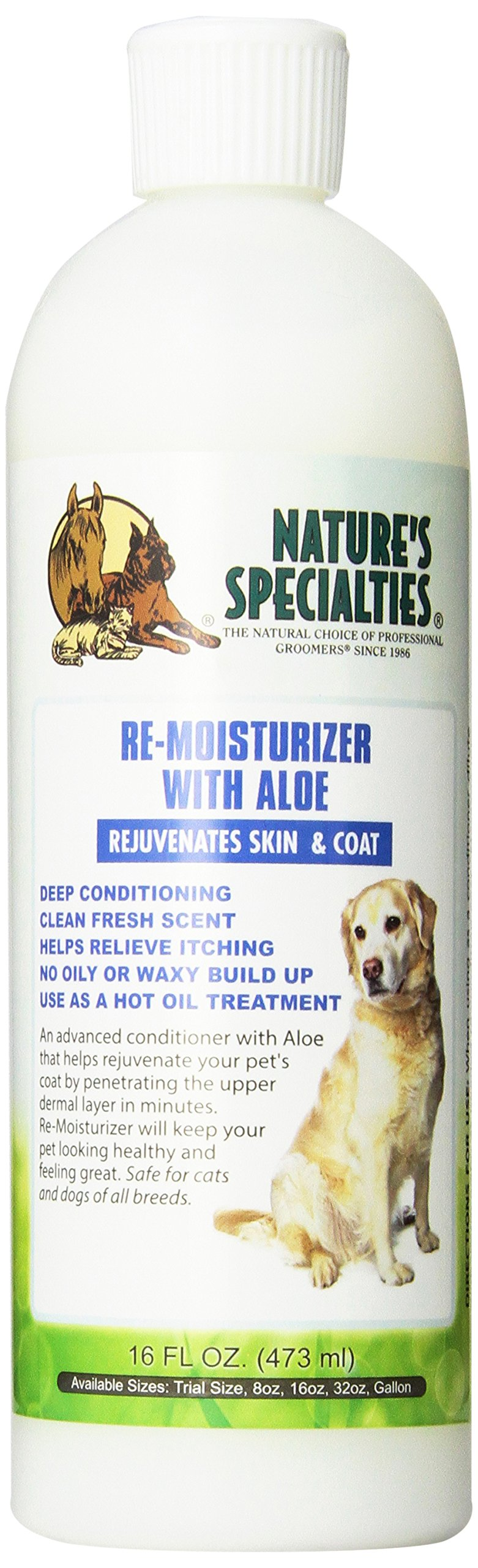 Nature's Specialties Aloe Remoisturizer Pet Conditioner, 16-Ounce