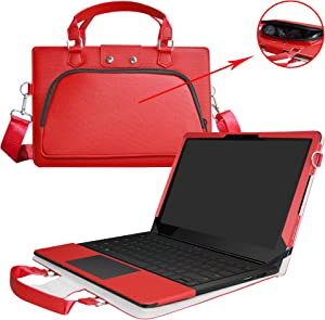 Razer Blade Stealth Case,2 in 1 Accurately Designed Protective PU Leather Cover + Portable Carrying Bag for Razer Blade Stealth 12.5 & 13.3 inch Series Gaming Laptop,Red
