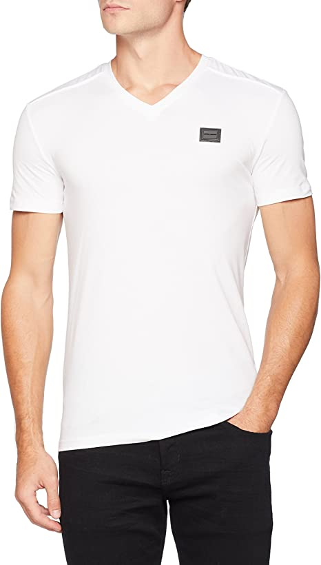 Antony Morato T Shirt Sport Scollo V con Placchetta Camiseta de Tirantes para Hombre: Amazon.es: Ropa y accesorios