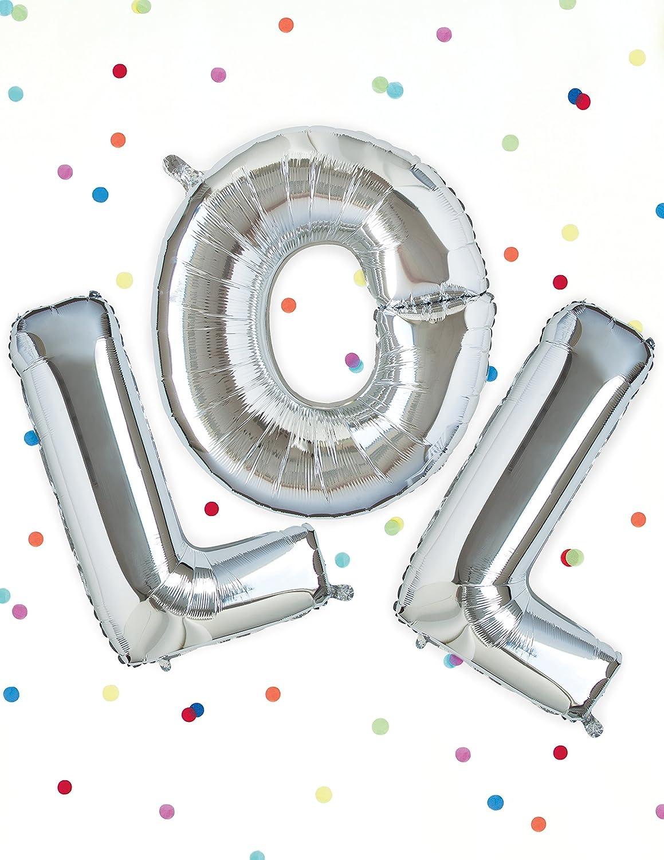 Unique Party 57522-34 Giant Silver Foil Letter O Balloon