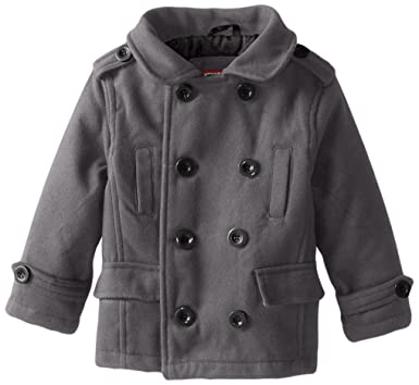 f70b6d298878 Amazon.com  YMI Boys  Double Breasted Wool Pea Coat with Sleeve ...