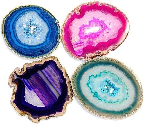 Fluorite Geode GEODE GEMSTONE COASTERS