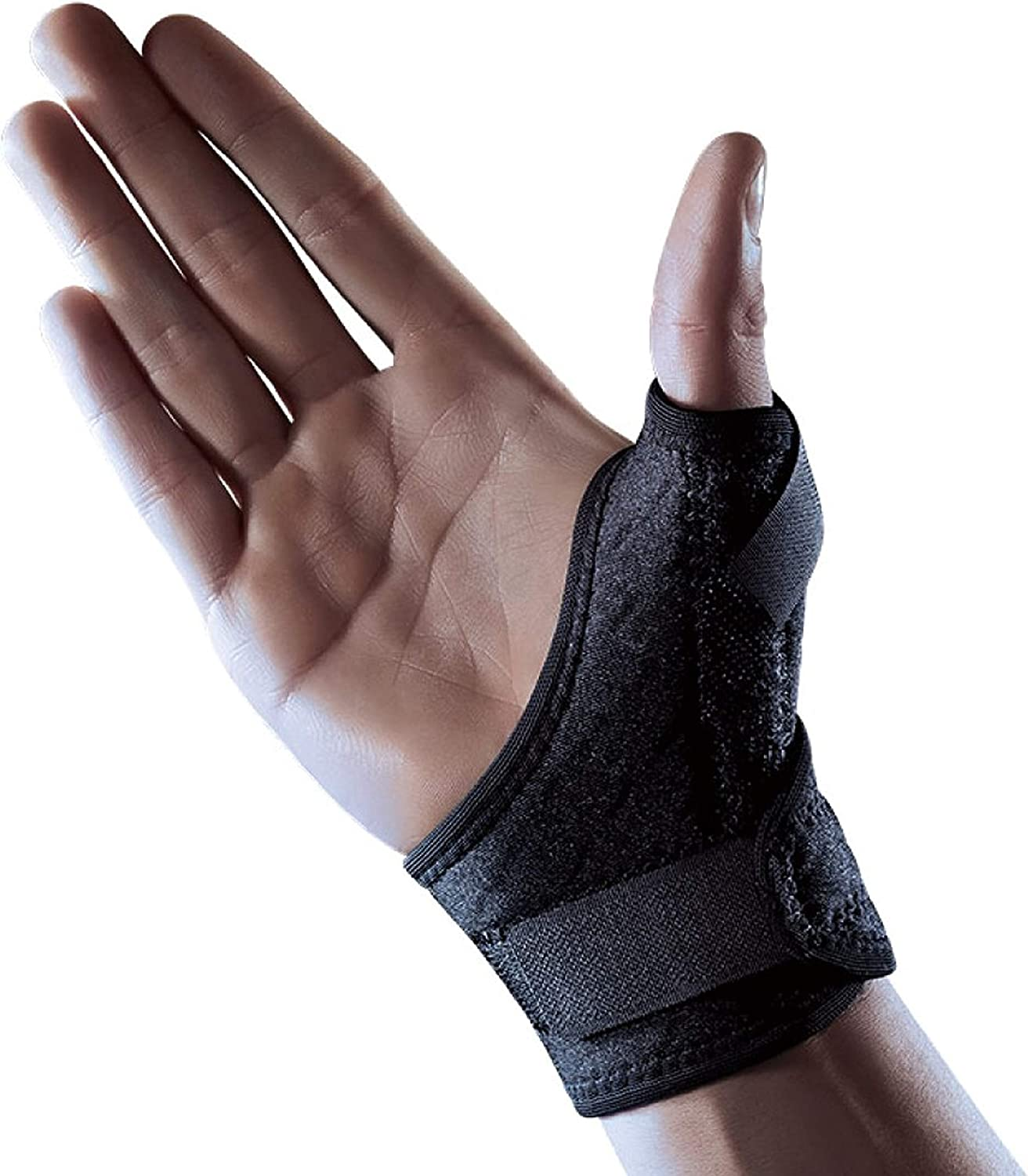 LP Support 563CA Thumb Bandage - Thumb Guard - Thumb Splint from the Extreme Series, tamaño:Universal - 1 par, color:negro