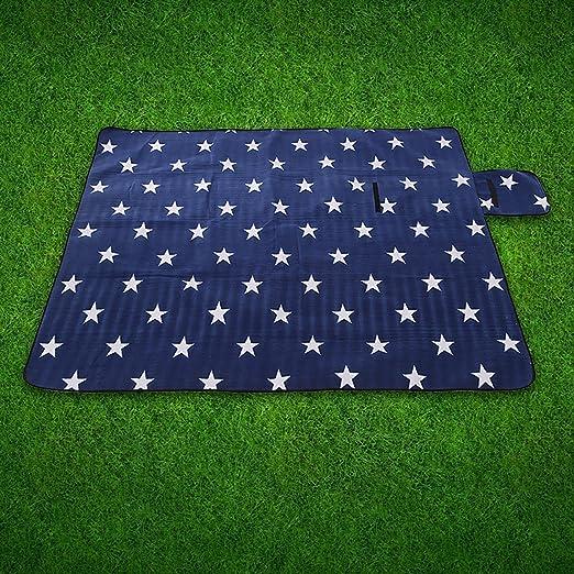 Uworth Estrella Portátil Manta de Picnic Alfombra Impermeable Plegable para Camping Playa Jardín 200 x 200 cm Azul: Amazon.es: Jardín