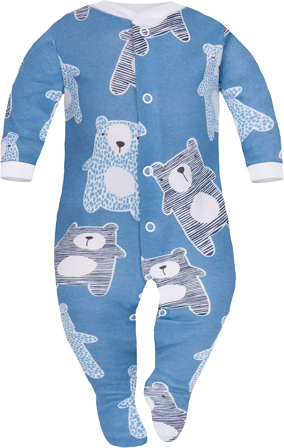 SIBINULO Baby Boys Baby Girls Sleepsuit with Feet Mix Pack of 3 Sizes 0-9 Months
