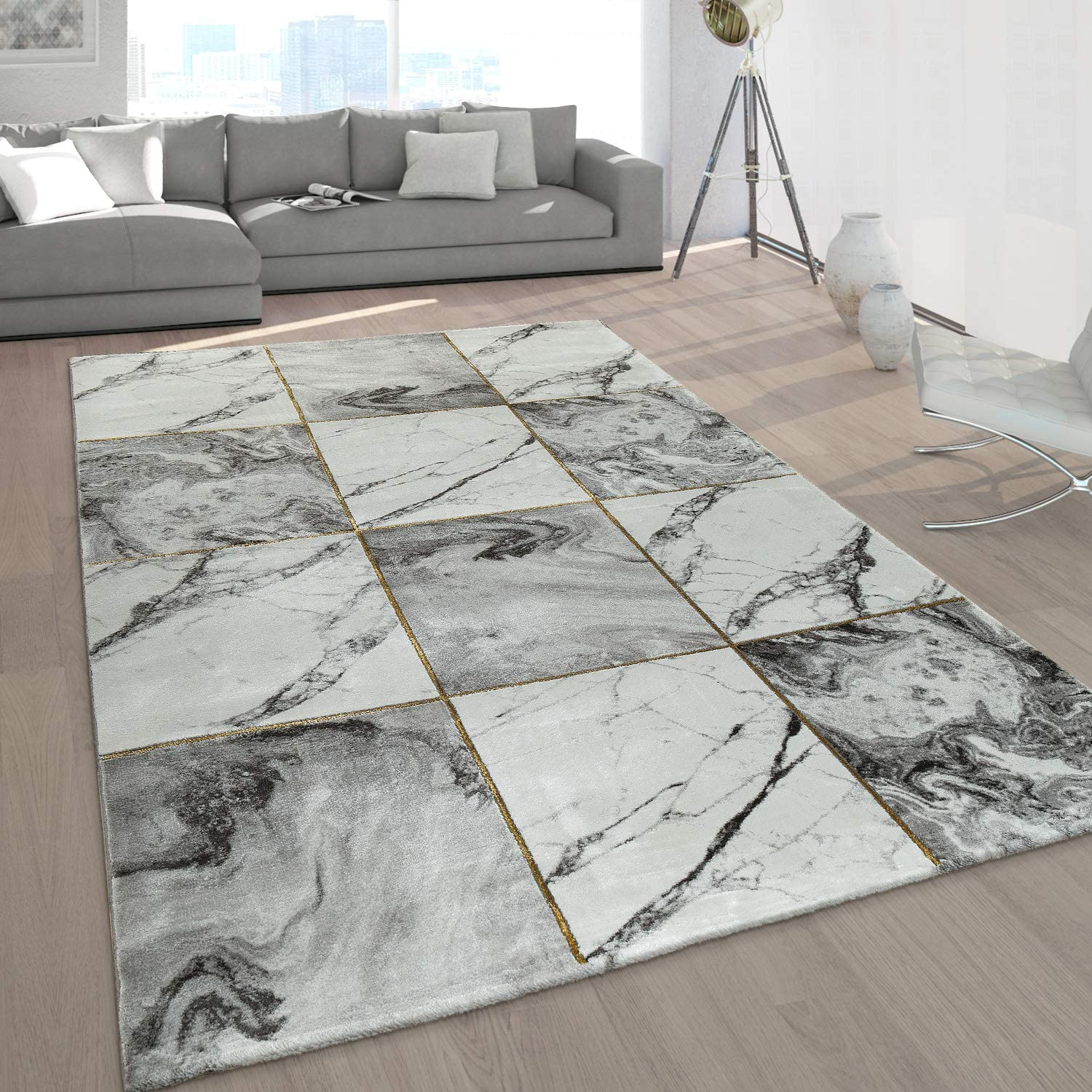 Large Rug Living Room Rug Pattern Grey Gold Soft Marble Effect Various Designs Size 160x230 Cm Colour Gold Amazon Co Uk Kitchen Home