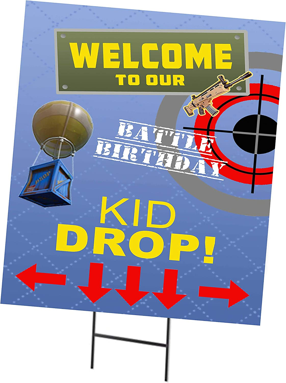 Video Gamer Themed Fort Battle Kid Drop Royale Party Supply Poster Decor (Decorations)