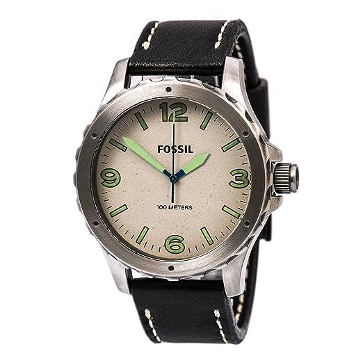 Fossil Hombre Reloj de Pulsera analógico Cuarzo Acero Inoxidable jr1461: Amazon.es: Relojes