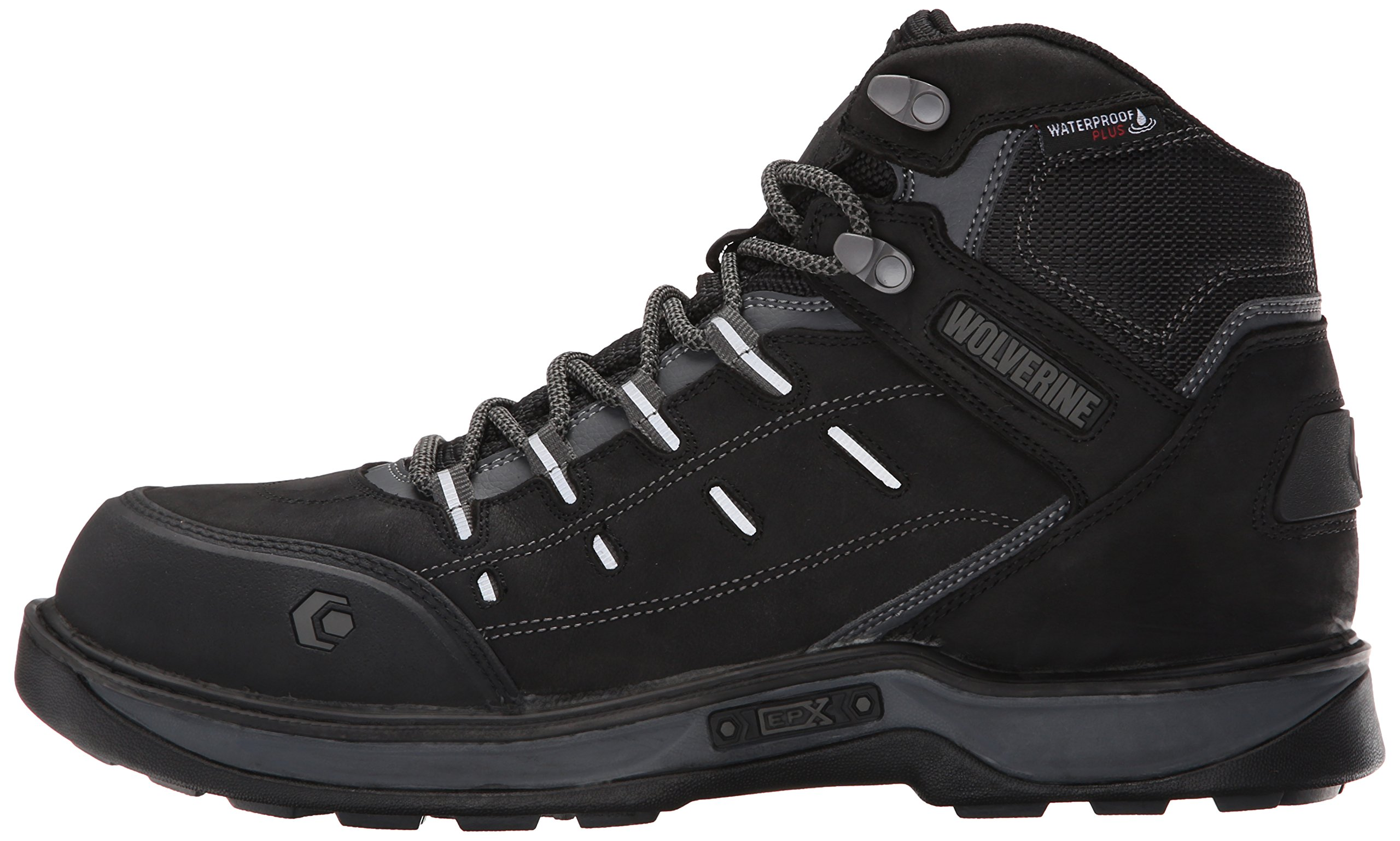 Wolverine Men's Edge LX Nano Toe Work Boot, Black/Grey, 11.5 M US by Wolverine (Image #5)
