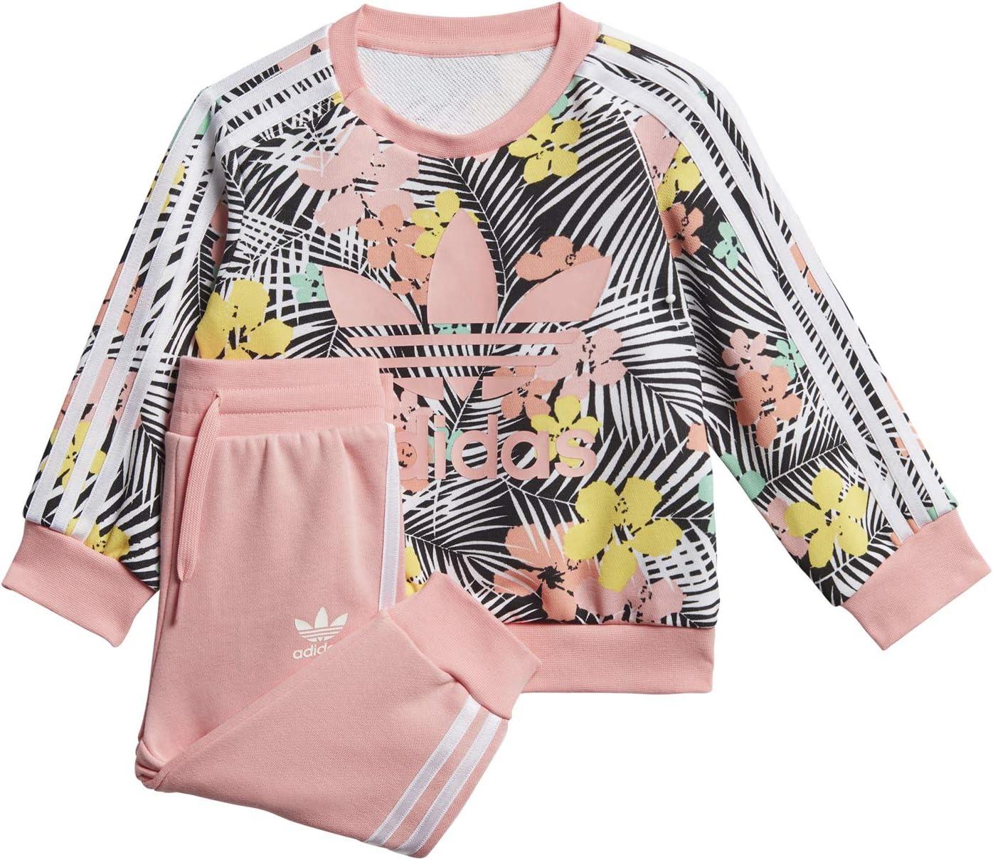 adidas Floral Crew Complete Tuta Rosa da Bambino FM6720