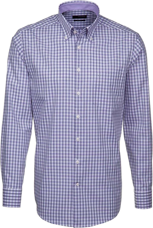 Seidensticker - Camisa formal - Cuadrados - Manga Larga ...