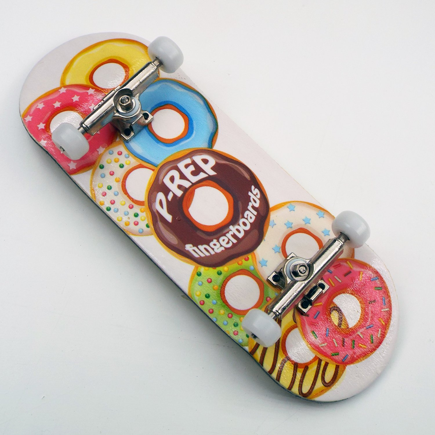 Peoples Republic P-Rep DOHNUTS 34mm Complete Wooden Fingerboard w CNC Lathed ...