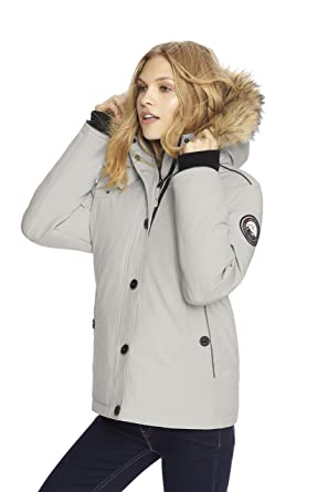 Alpinetek Women's Short Down Bomber Parka Coat at Amazon Women's ...