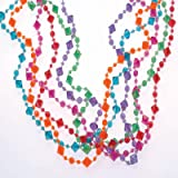 US Toy - 236774 Pearlized Diamond Bead Necklaces Assorted Colors, (1-Pack of 12)