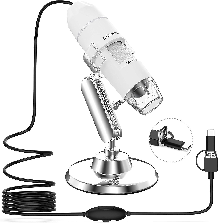 Pancellent Digital Mikroskop 1080p 50x Bis 1000x Usb Vergrößerungsmikroskopie Mit 8 Leds 12er Pack Objektträgersammlung Erste Schritte Nicht Iphone Ipad Weiß Spielzeug