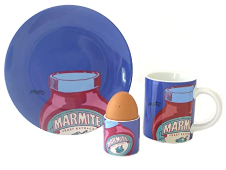 Marmite Mug, Plate & Egg Cup Lilac Breakfast Set by ECP Design ...
