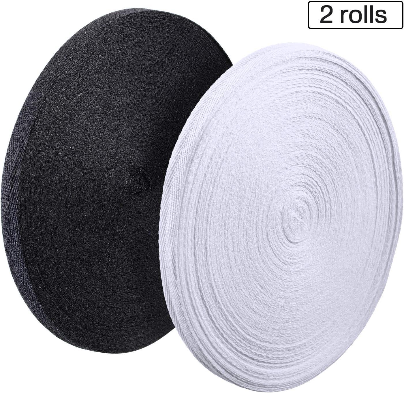1 pulgada de ancho, 55 yardas cinta de cinta de cinta natural para hacer manualidades y costura Cinta de sarga de algod/ón de espiga