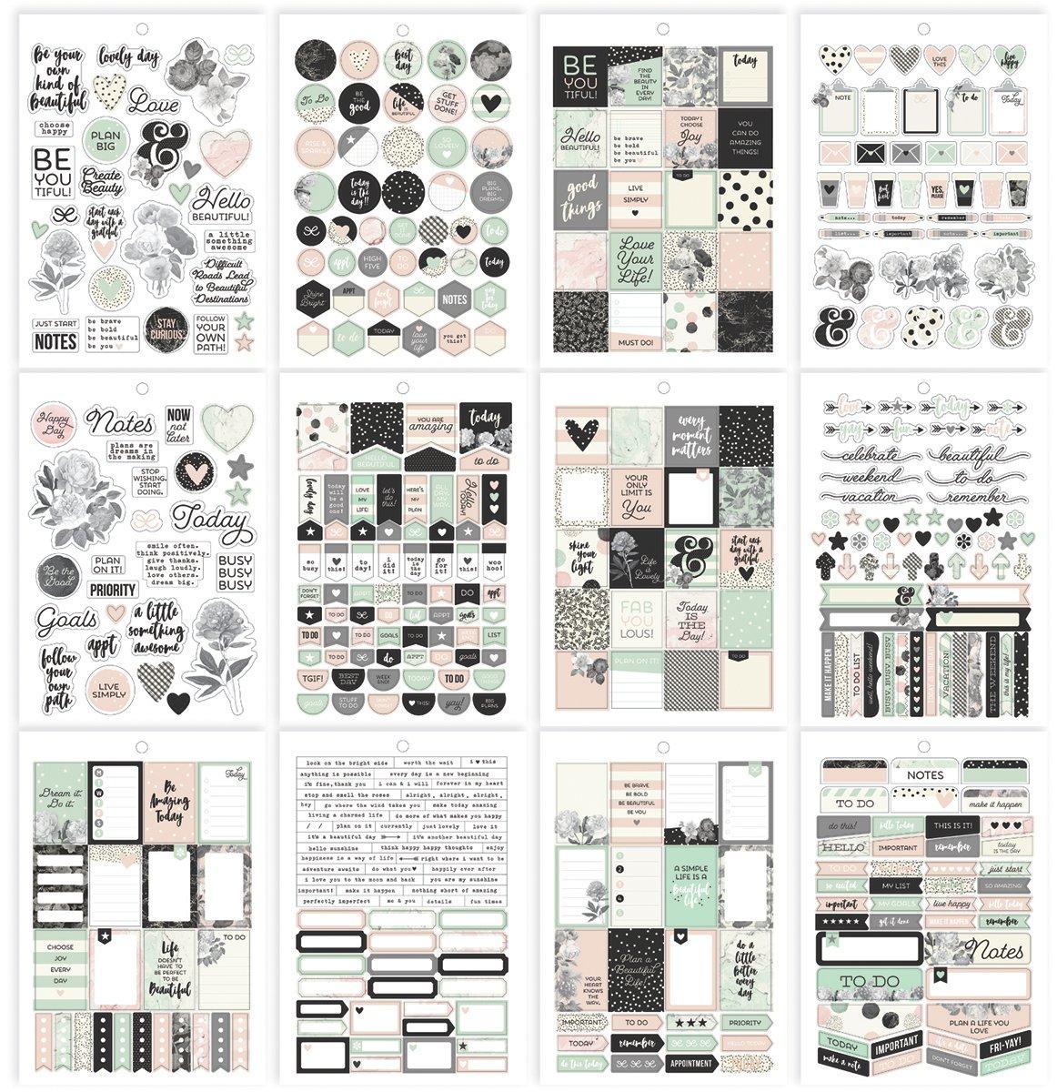 Simple Stories Beautiful sticker tablet, carta,, 20.9x 14x 0.4cm 7953