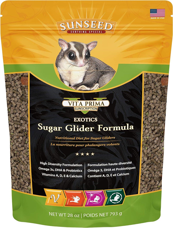 Sunseed 20060 Vita Prima Sunscription Exotics Sugar Glider Food - High-Variety Formula - 28 OZ.