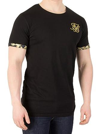 6530f2b87e0a3 Sik Silk Hombre Camiseta con manga enrollada veneciana