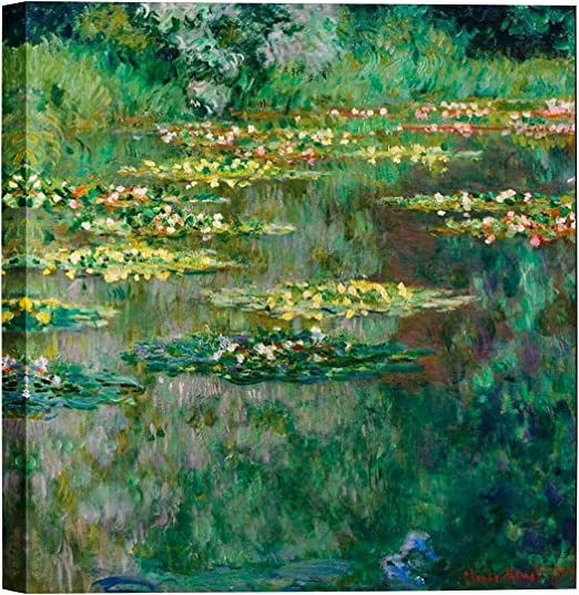 Water Lilies Hand Painted Claude Monet Oil Painting On Canvas Wall Art 20x20/""