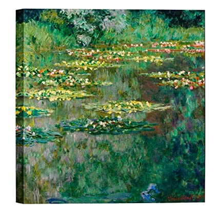 Amazon.com: Eliteart- Water Lilies(C) by Claude Monet Oil Painting ...