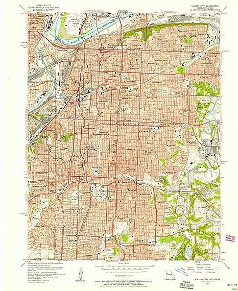 Amazon.com : YellowMaps Kansas City MO topo map, 1:24000 ...