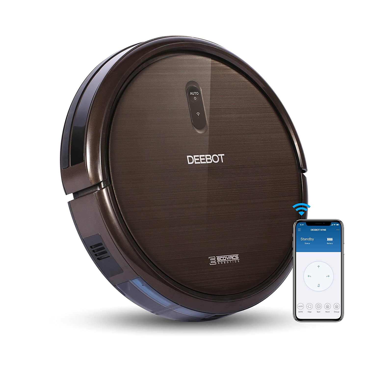 ECOVACS Robotics DEEBOT N79S Robot Vacuum - High Suction with Beater Brush, Auto Self-Charging, Drop Sensor, Alexa & App Connect, works On Hard Floor & Carpet - 2 Year Warranty