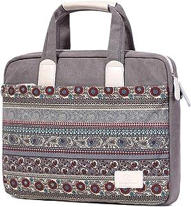 Wxnow Laptop Bag Shockproof Messenger Bag Shoulder Briefcase Handbag Teacher Large Laptop Organizer Bag Work for 15.6 inch Laptop Light Grey