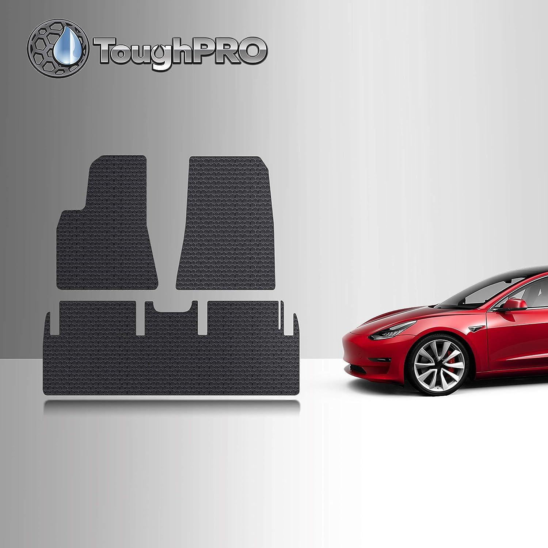 ToughPRO Black Rubber Floor Mats for Tesla Model 3