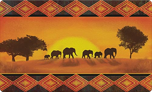 Toland Home Garden 830296 Savanna Sunset 18 x 30 Recycled Mat, USA Produced