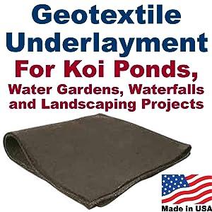 15' x 20' Geotextile Underlayment & Landscape Fabric