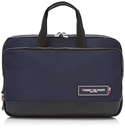 4eb92a965a Tommy Hilfiger Th Patch Slim Computer Bag - Borse per PC portatili Uomo,  Blu (