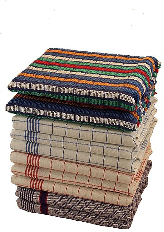 10 unidades. Paños – Cocina Mix de 6 Paños de 2 Paños de 60303 2 Fosos de rizo 100% algodón: Amazon.es: Hogar