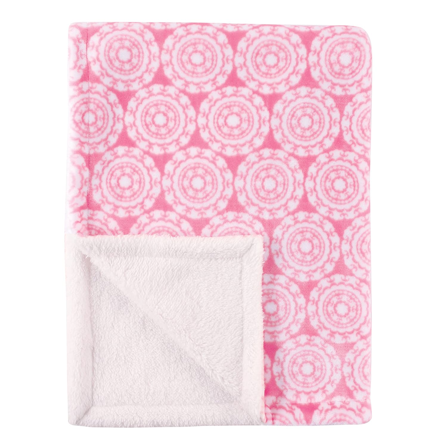 Hudson Baby Blanket with Sherpa Backing, Medallion, One Size