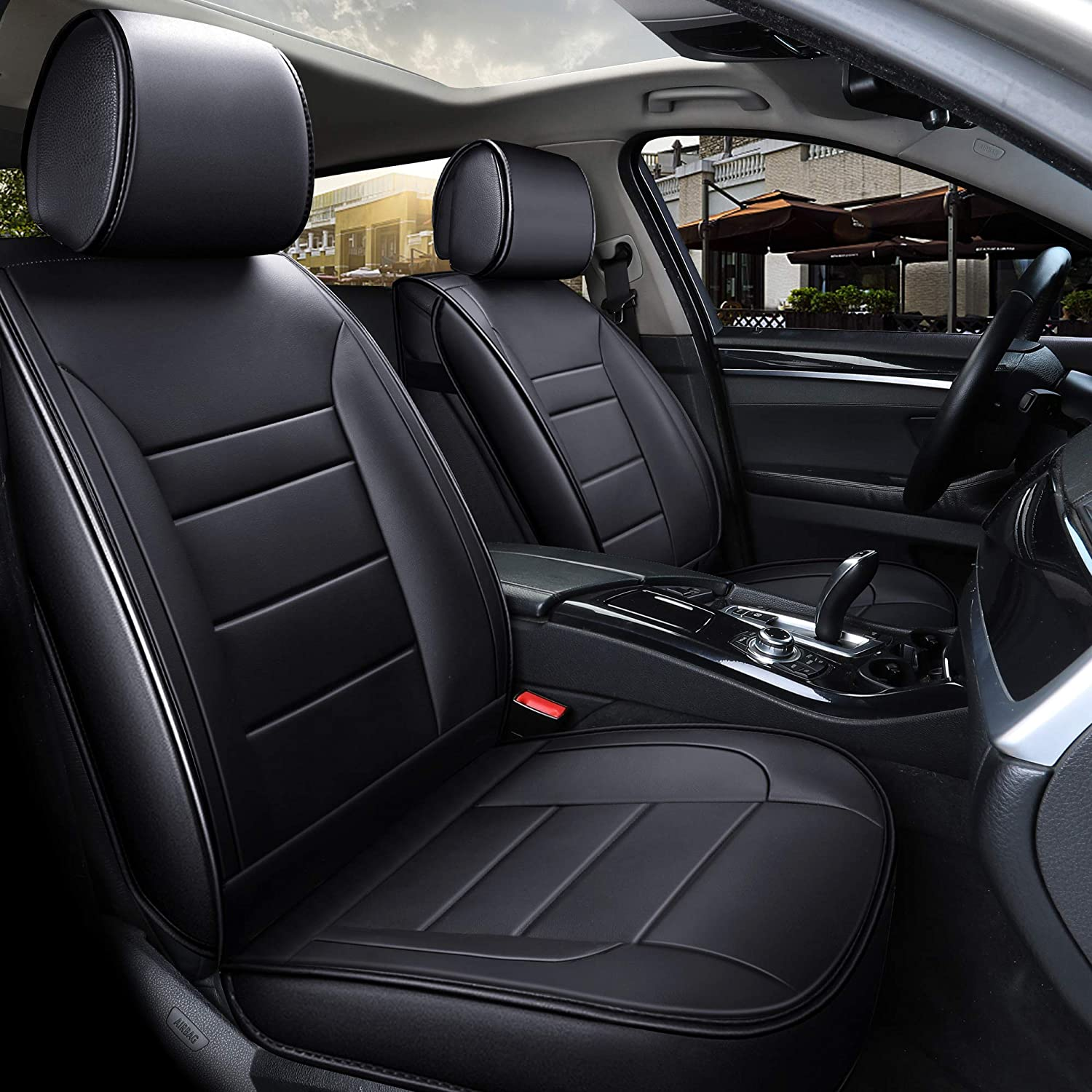 MITSUBISHI OUTLANDER 2 x Fronts Heavy Duty Black Waterproof Car Seat Covers